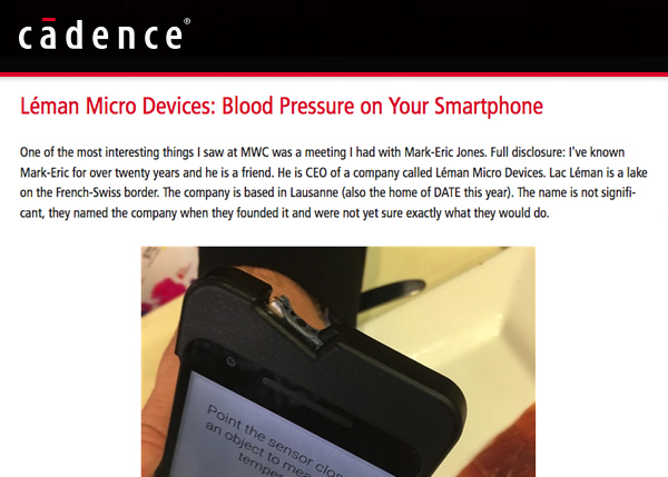 Léman Micro Devices: Blood Pressure on Your Smartphone